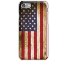 Vintage Patriotic Rustic American Flag iPhone Case/Skin