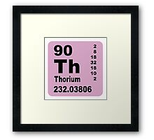 Thorium Periodic table of Elements Framed Print