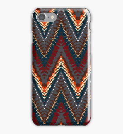 Bohemian print with chevron pattern in dark colors iPhone Case/Skin