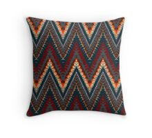 Bohemian print with chevron pattern in dark colors Throw Pillow