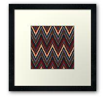 Bohemian print with chevron pattern in dark colors Framed Print