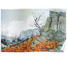 Autumn on Stanage Poster