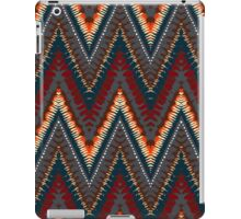 Bohemian print with chevron pattern in dark colors iPad Case/Skin