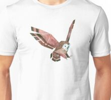 Low Poly Watercolor Owl Unisex T-Shirt