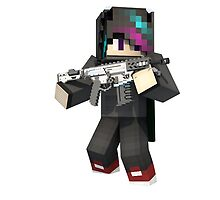 Minecraft Dan with a Gun! by Enderpig