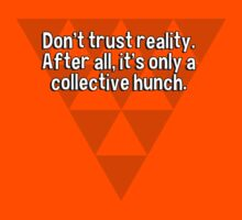 Don't trust reality. After all' it's only a collective hunch. by margdbrown