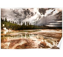 """Yellowstone Geysers """"Too"""" Poster"""
