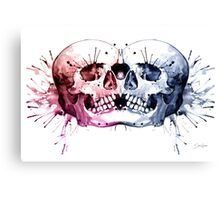 Conjoined Skull Canvas Print