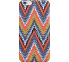 Bohemian print with chevron pattern in cool colors iPhone Case/Skin