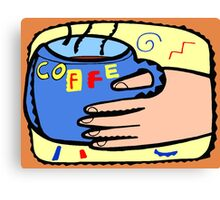 Coffee in my Hand  Canvas Print