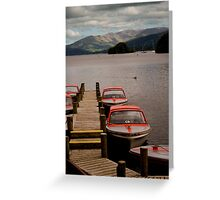 Boats on Lake Windermere  Greeting Card