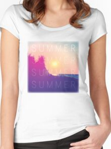 Retro Summer Women's Fitted Scoop T-Shirt