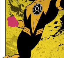 Yellow Lantern Corps Sinestro Sticker