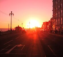 Sunset on Brighton seafront by pboddy