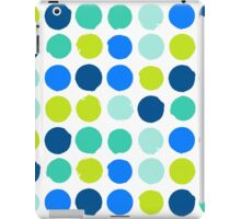 Print with randomly colored circles in bight blue green colors iPad Case/Skin
