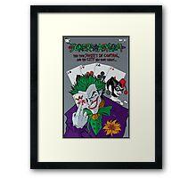 Joker's Asylum Framed Print
