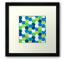 Bold geometric pattern with circles Framed Print