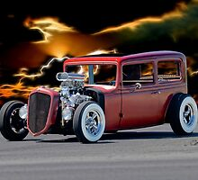 1935 Chevrolet 'Hot Rod' Sedan by DaveKoontz