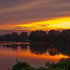 Sunset on the Tred Avon River, Maryland by Eileen McVey