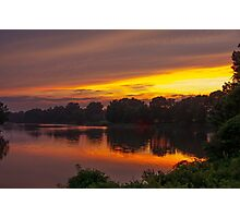 Sunset on the Tred Avon River, Maryland Photographic Print