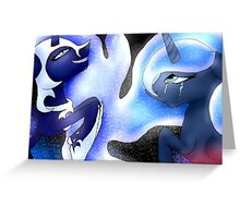Luna and Nightmare moon Greeting Card