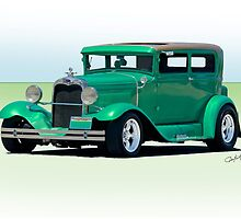 1930 Ford Model A Sedan by DaveKoontz