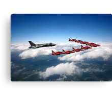 Flying with XH558 and The Reds Canvas Print