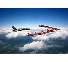 Flying with XH558 and The Reds Photographic Print