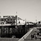 Brighton Pier in b&w by Lisa Williams