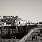 Brighton Pier in b&w by Lisa Williams