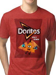 Bill Cipher Demon Doritos Tri-blend T-Shirt