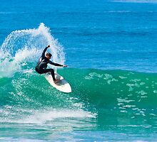 Surfing in Carlsbad by bengraham