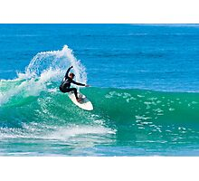 Surfing in Carlsbad Photographic Print