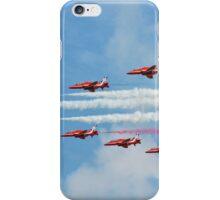 Red Arrows in flight iPhone Case/Skin