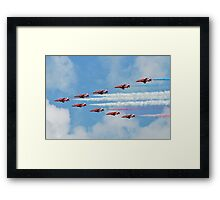 Red Arrows in flight Framed Print