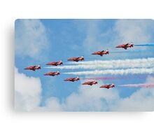 Red Arrows in flight Canvas Print