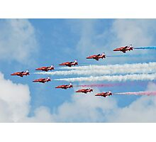 Red Arrows in flight Photographic Print