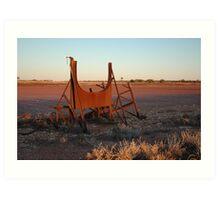 Sunset at Emu Claypan Art Print