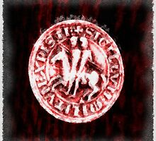 Seal of the Knights Templar by Pierre Blanchard by esotericaart