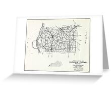Carlisle County, Kentucky Map Greeting Card