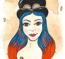 Blue and Orange Steampunk by Victoria Thorpe