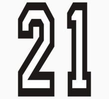 21, TEAM SPORTS, NUMBER 21, TWENTY ONE, TWENTY FIRST, TWO, ONE, Competition,  Kids Clothes