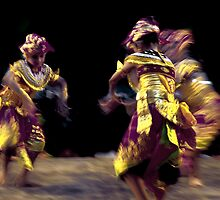 Three Dancers by Komang
