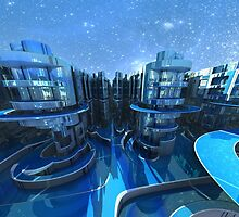 Fractalscape Future City  by MARTIN LITHGOW
