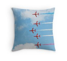 The Red Arrows team Throw Pillow
