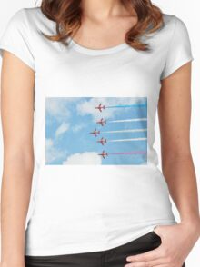 The Red Arrows team Women's Fitted Scoop T-Shirt