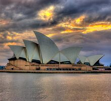 Sunrise Symphony - Sydney Harbour -30 exposures The HDR Experience by Philip Johnson