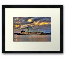 Sunrise Symphony - Sydney Harbour -30 exposures The HDR Experience Framed Print