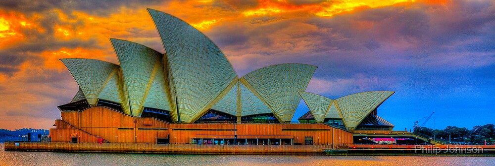 Psychedelic  Diva - Sydney Opera House , Sydney Australia - The HDR Experience by Philip Johnson