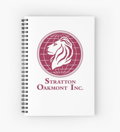 The Wolf of Wall Street Stratton Oakmont Inc. Scorsese (in burgundy) Spiral Notebook